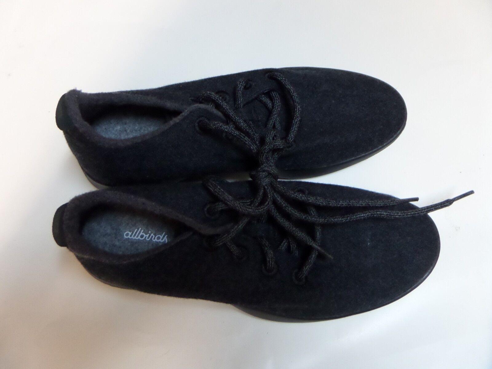 Allbirds Womens Wool Wool Wool Runner Natural Black With Black Sole Size 7 baef6c