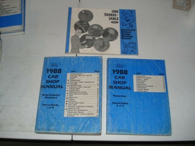 1988 Ford Taurus Mercury Sable Shop Manual Set Service