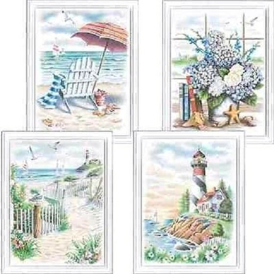 BEACH SCENES  Pencil  By Number Kit   ARTS & CRAFTS, Dimensions