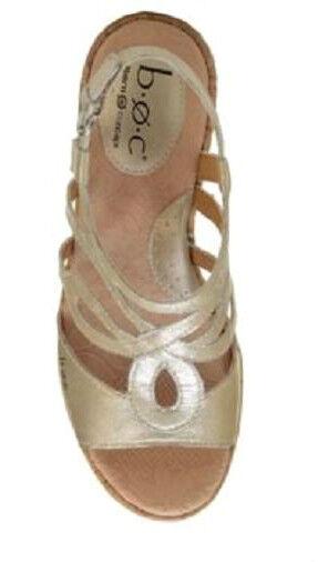 B. O. C. Born Wynda Sandale Leder cream gold 8 WIDE NEU