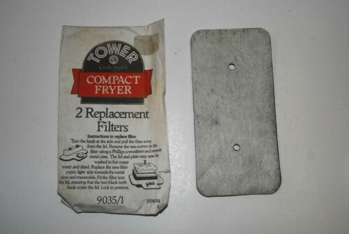 TOWER COMPACT FRYER FILTERS PACK OF 2 P//No 9035//1