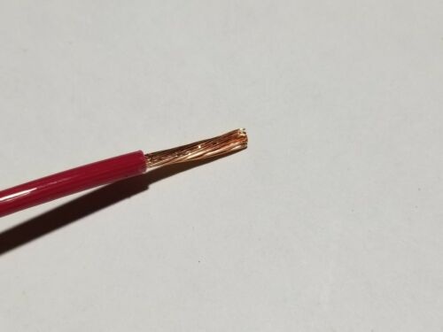 Alan #14awg 19 Stranded THHN//THWN-2//MTW Building Wire Red //100ft