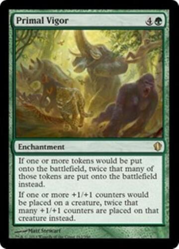 PRIMAL VIGOR Commander 2013 MTG Green Enchantment RARE