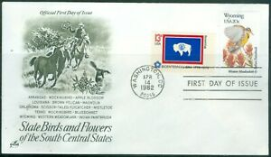 US-FDC-1953-2002a-and-matching-state-flag-1633-1682-cancelled-1982-NOT-ADDR