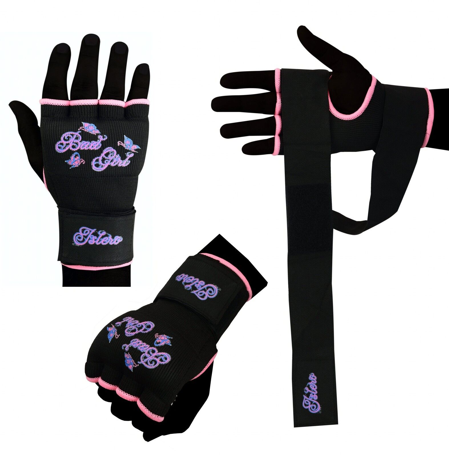 Geschäft Outlet zum Verkauf bester Platz Details zu Islero Damen Rosa Gel Handschuhe Mma Kickboxen Muay Thai  Kampfsport Handschützer