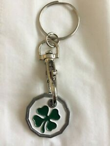 Reusable Shopping Trolley Locker Coin £1 Or  €1 Token Holder Keyring New Shape