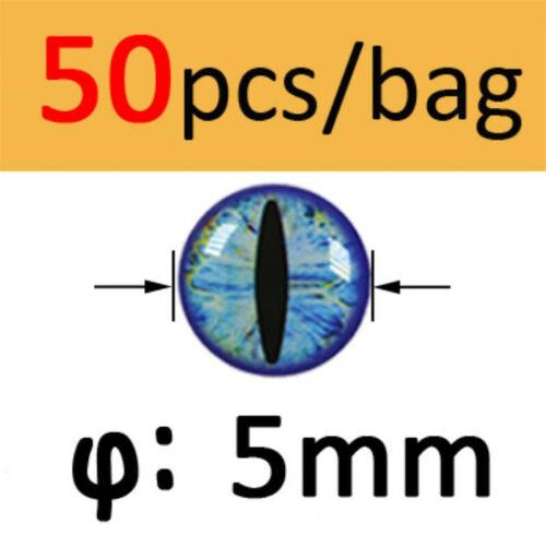 50PCS 4D Holographic Fish Eyes Dragon Eye for Fly Tying Streamers Baitfish