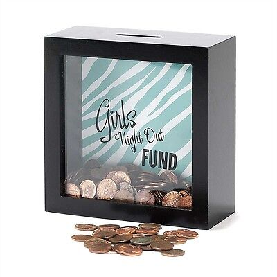 Marilyn Ferguson Quote Black Frame Shadow Box Bank Money Coin Slot at the Top