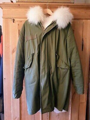 Canadisk frakke af rulam, med krave af rævepels