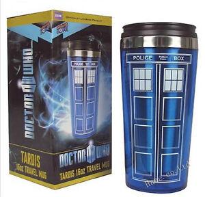Doctor-Who-Tardis-Tazza-Termos-in-Acciaio-Inox-Vuoto-Tazza-da-viaggio-POLIZIA-BOX-Cup