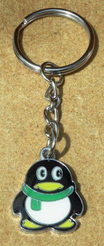 Coloured Penguin Aquatic Bird Keyring Key Ring Gift Souvenir