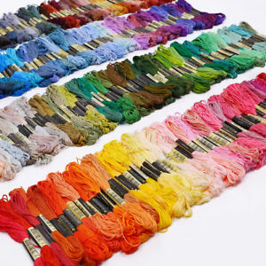 Lot-50-Multi-Colors-Cross-Stitch-Floss-Cotton-Thread-Embroidery-Sewing-Skeins