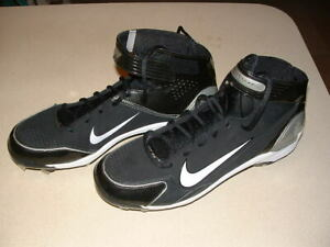 Details about NIKE HUARACHE MENS BASEBALL SPIKES, SHOES SIZE 14 BRAND NEW  BLACK-WHITE SWOOSH