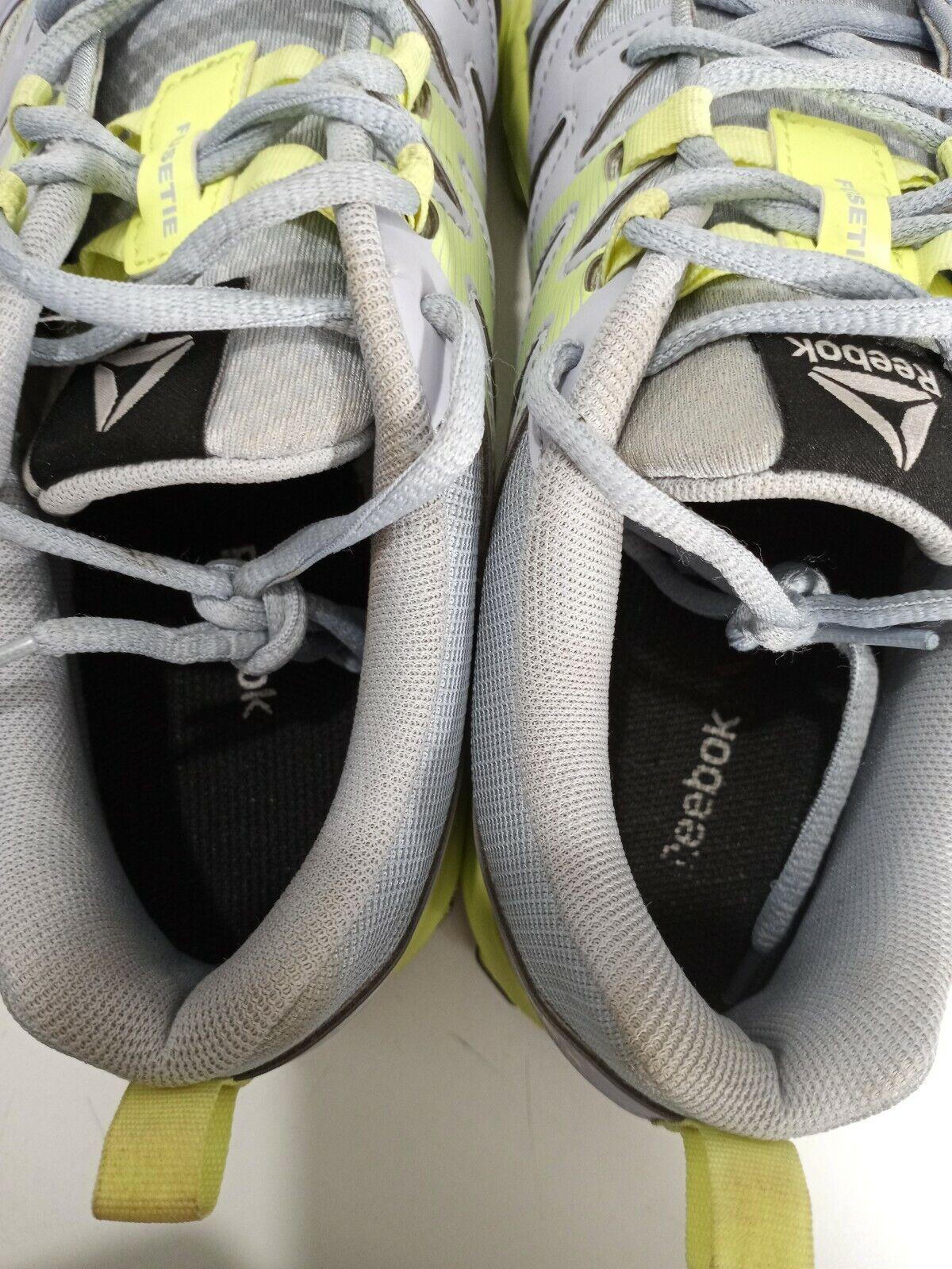 Reebok Femme Realflex Train 4.0 AR3054 Gris Jaune Chaussures De Course Taille 10