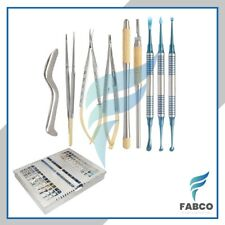Dental Micro Oral Surgery Instruments Kit 10pcs Castroviejo With Dental Cassette