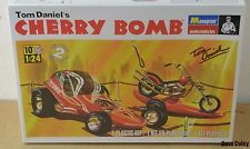 New Monogram Tom Daniels Cherry Bomb Hot Rod, Monkey bike & Trailer 1:24th scale