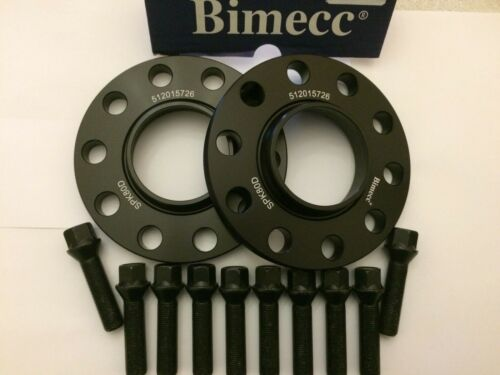 Roue Alliage Entretoises 12 mm x 2 BLACK BIMECC 10 X Boulons Pour VW CC 5X112 M14X1.5 57