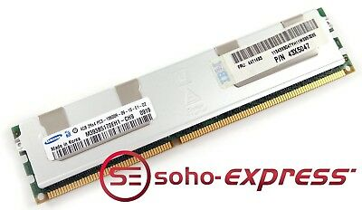 B5 4GB Samsung HP 500203-061 PC3-10600R Registered 2Rx4 DDR3 ECC Server Memory