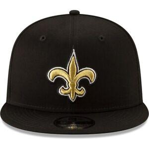 NEW-ORLEANS-SAINTS-New-Era-9Fifty-Hat-Cap-Adjustable-New-Brees-Black