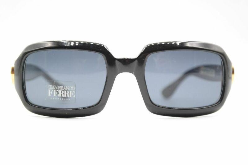 Vintage Gianfranco Ferre Gff 389 807 Schwarz Eckig Sonnenbrille Sunglasses Nos Verschiedene Stile