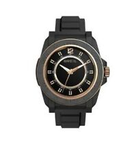 Breil Unisex Quartz Watch, Beige Dial Analogue Display Black PU Bracelet TW0833