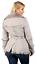 Pelle Cintura Pecora Donna Di Lussuoso Trench Grigio Con Toscana Cappotto qxqRzw7tX