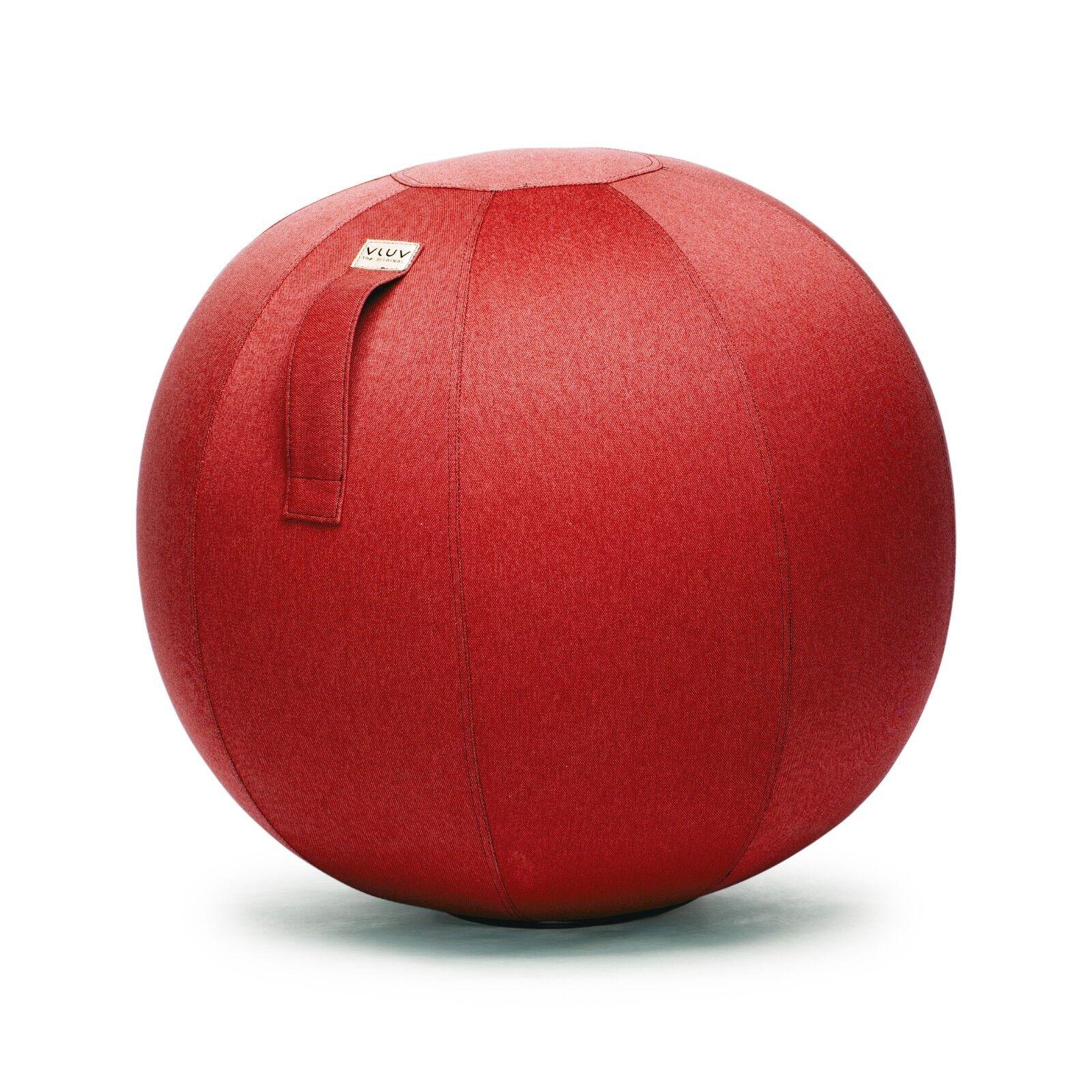 VLUV LEIV Sitzball Fitnessball Yogaball Büroball Rücken Gymnastikball mit Bezug