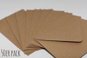50-x-Natur-Briefumschlaege-C6-Kraftpapier-Kraft-11-4cm-x-16-2cm