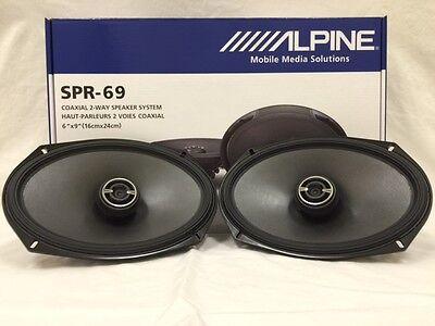 "ALPINE SPR-69 6""x9"" CAR SPEAKERS/ 6x9-INCH 2-WAY CAR AUDIO SPEAKER TYPE R  SPR69"