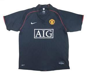 Manchester United 2007-08 ORIGINALE AWAY SHIRT (bene) L soccer jersey