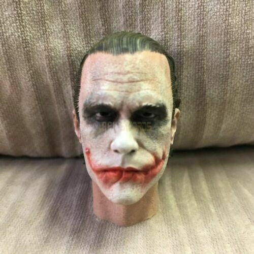 Free Ship 1//6 scale Head Sculpt Joker Heath Ledger for hot toys Robber  version