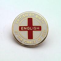 """ENGLISH BY THE GRACE OF GOD"" ENGLAND ENAMEL LAPEL BADGE - Flag, Patriotic, Pin"
