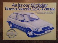 MAZDA 323 GT orig 1982 UK Mkt Publicity Brochure - 10 Year Anniversary