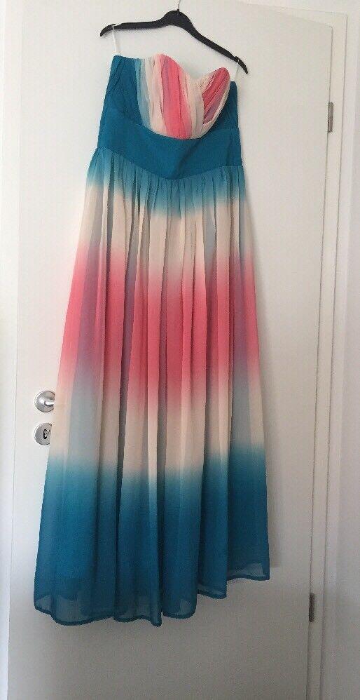 Damen Abendkleid Lang Gr. 40 In Bunt