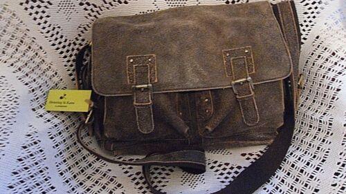 vieilli en Cartable Denning Kane étiquettes marron cuir Sac Nouveau bandoulière à avec Sq00XrBAwF