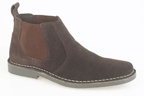 Mens Desert Ankle Boots Dealer Suede Leather Chelsea Twin Gusset Soft UK 6-12