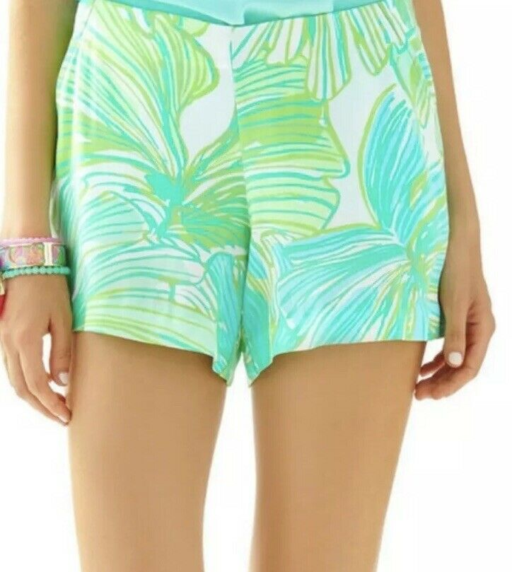NWT Lilly Pulitzer Jeannie Short Green Sheen Fronds Place Size 2  76 Style 19728