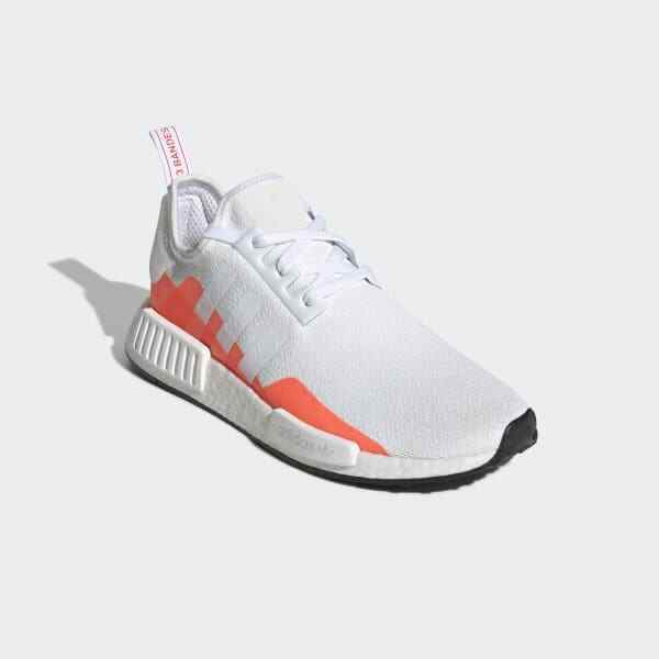 adidas nmd r1 cloud white solar red