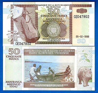 Burundi 50 Francs  Uncirculated   P-36