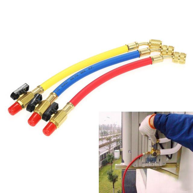 3XR134A R410A 800 PSI Manifold Gauge Set A/C Refrigeration Charging Hose  P1J3