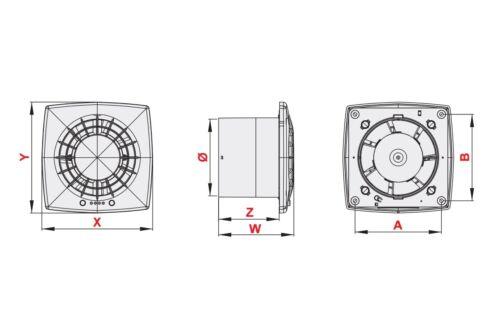 Satin Salle De Bain Extracteur Ventilateur 100 Mm Avec Tirette Interrupteur Toilettes Ventilateur