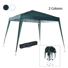 Carpa Plegable 3x3m Pabellón Cenador Gazebo Acero Jardín Camping 2 Color
