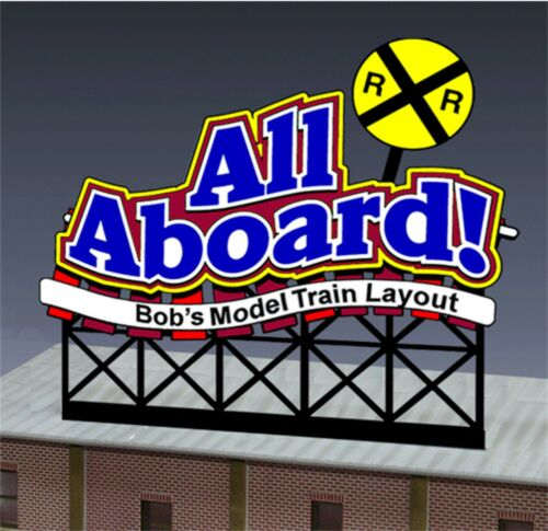 Miller/'s All Aboard  Animated Neon Sign O//HO customizable  #88-1851