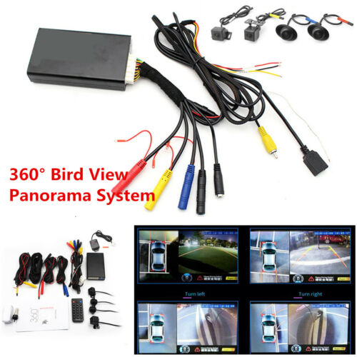Universal 4CH HD 360° Bird View Panorama System Car DVR Recorder Rearview Camera