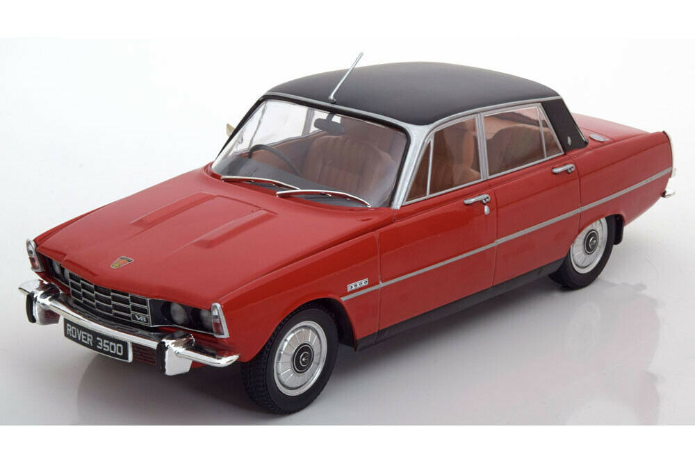 Model Coche group mcg18044 1 18 Rover 3500 v8 1974 rojo Matt negro
