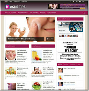 Acne-Tips-Turnkey-Wordpress-Website-with-Builtin-Amazon-Store