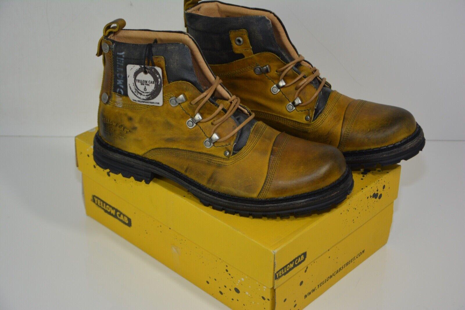 Schuhe Gelb Cab - Schnür Stiefel d.G 46 Y154731-A Neu unbenutzt
