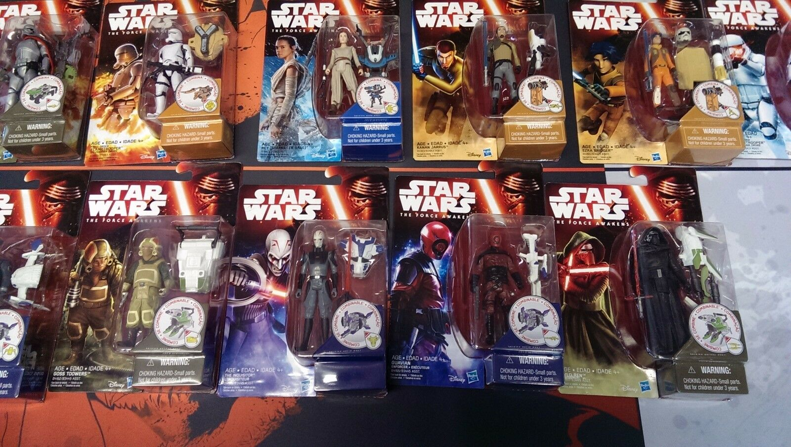 13 STAR WARS carded action action action figures - The Force Awakes - Luke, Darth Vader, Rey 9c20f2