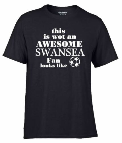 Premiership Team Football Soccer T Shirt Awesome SWANSEA CITY   Fan Supporter