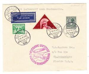 HINDENBURG ZEPPELIN-10TH NORTH AMERICA FLIGHT-NETHERLANDS DISPATCH